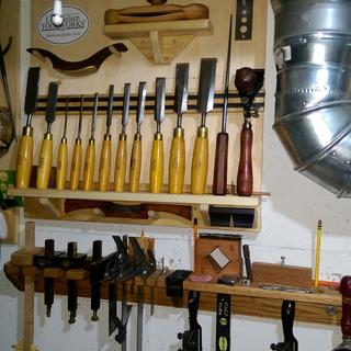 Wood chisel/drawbore pin rack