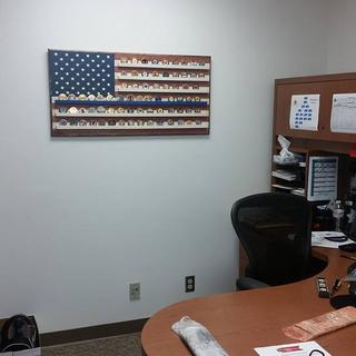 Final product on display in my office.