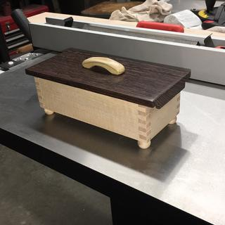 First box made using the Woodsmith jig.