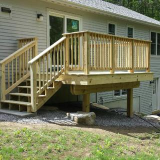 Side view of deck