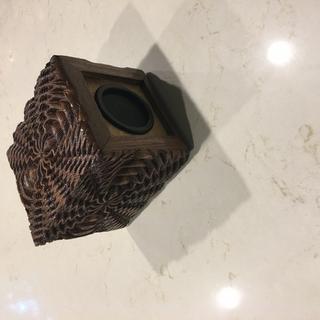 Walnut speaker box.