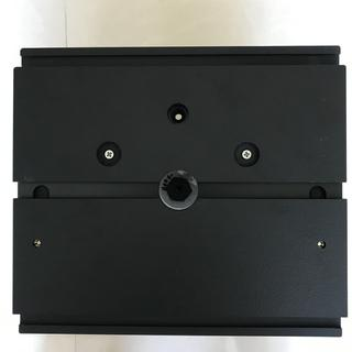 Underside of the base with the two drilled holes