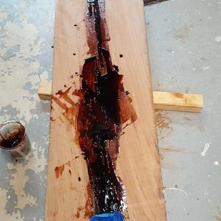 Filling Voids with West System Epoxy