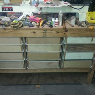 Before drawer fronts added.