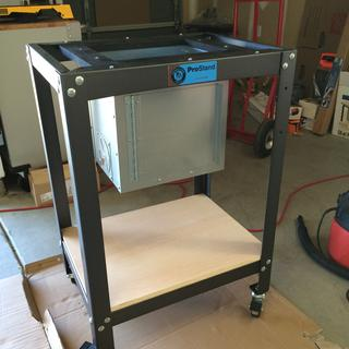 Made a frame to mount it into a Rockler/Bench Dog/Peachtree universal stand setup.