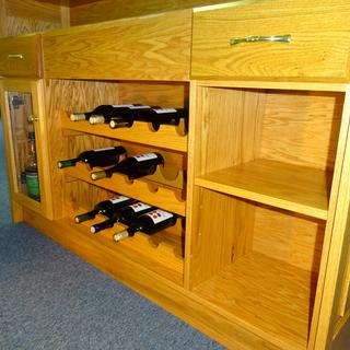 Added wine racks for storage of up to 18 bottles.