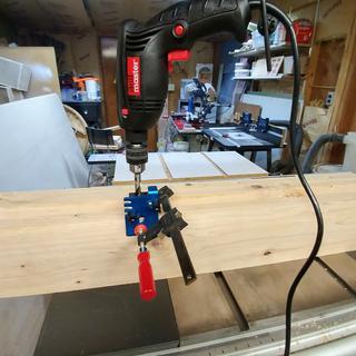 Drilling the Beadlock holes.