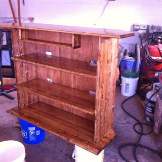 Entertainment center I made.