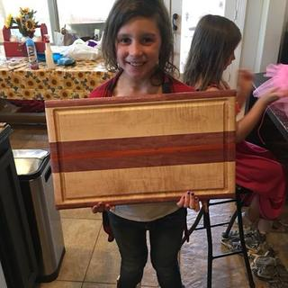 Daughters first project with daddy. She wanted a cutting board.