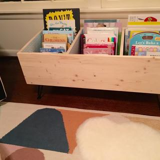 Finished book bin with books.