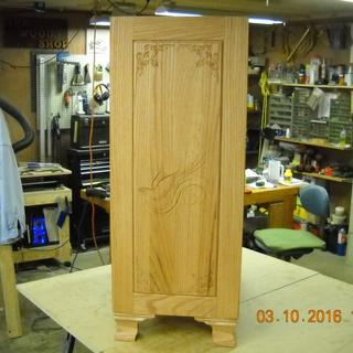 Bow front Dresser side Panel using V Carve pro.