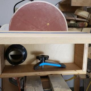 12 in disc sander on my lathe. I use the hold down to secure it to the lathe.