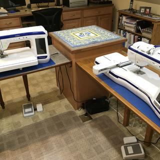 The project mats keep my wife's quilting / sewing machines from moving around!