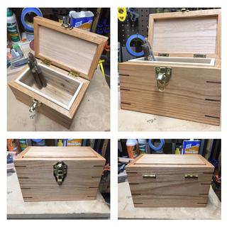 Pads used in the process of making this humidor.