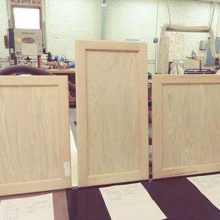 First three custom doors.
