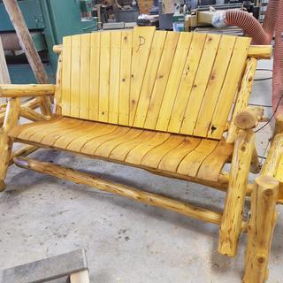 5 Rustic White Cedar Glider