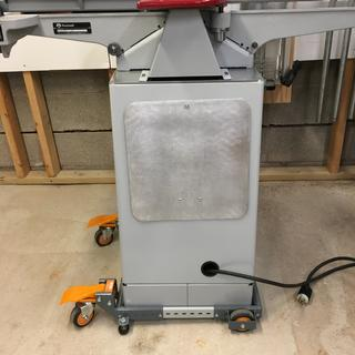 Mobile base from back of jointer.