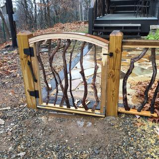 "The quarter sawn 1/4"" oak will gray naturally and is great for capping the arch in the gate."