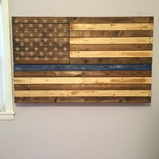 Rustic Blue Line Old Glory