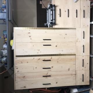 Cabinet with 4 drawers for clamps