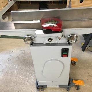 Mobile base from front of jointer.