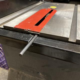 Cut for saw support bar.
