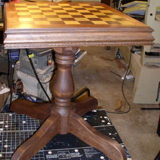 Chess Table - the peestal Base served the purpose for which I bought it.