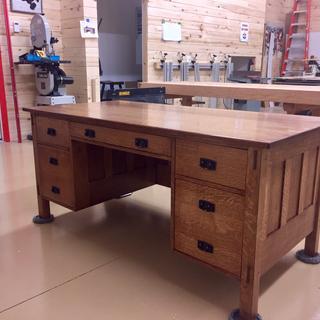 To finish a replica of the Stickley executive desk.