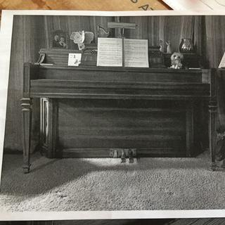 A picture of my wife's piano.
