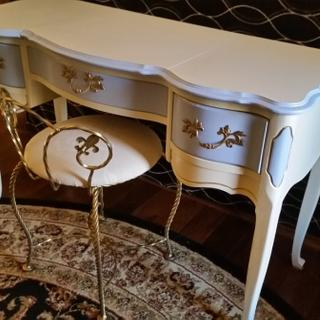 Vintage vanity/desk using GF Antique White Milk Paint.  Love this product. Smooth finish.