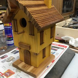 Swiss Alps birdhouse