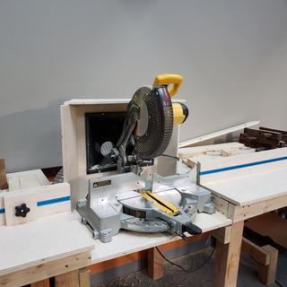 Easy to set stops for our miter saw,