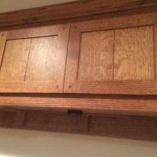 Upper cabinet doors.