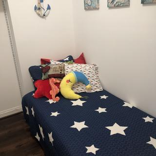 Perfect for kid space! My grandson loves it and sleeps like a lamb on it