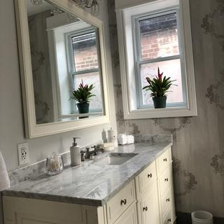 Love my new bathroom!  These pieces add to the whole look!