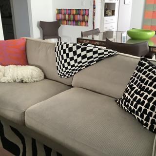 Black & White Throw in Living room