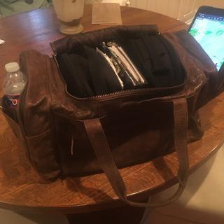 Loaded flight bag.
