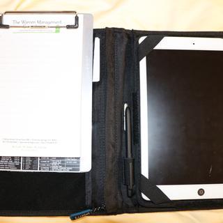Modified Flight Gear iPad knee board.