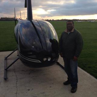 This is me after taking a flight lessonin R44, an loving every moment of it.