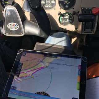 In Piper Warrior III cockpit