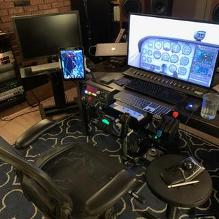 Fully setup in front of my desk on the Wheel Stand Pro stand for these controllers.