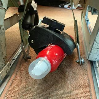 To fix an extinguisher between the Pilot and Copilot seats in a Cessna 172 !