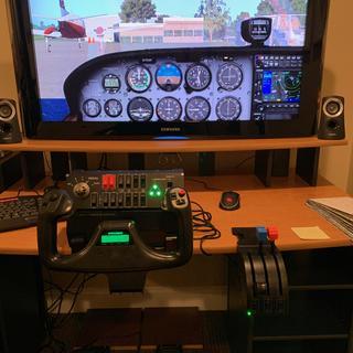 X-Plane 11 with Saitek Controls
