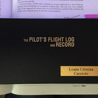 logbook cover with 2 lines for the name