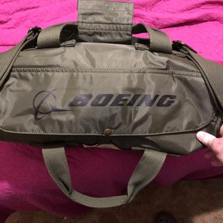 Top of bag with flap closed it also says Boeing on here.