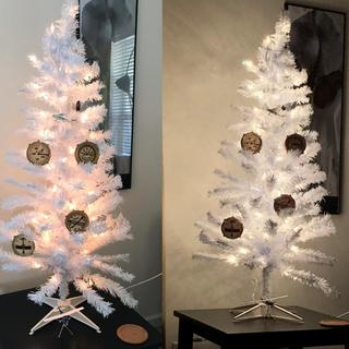 Aircraft Wood Ornaments are striking on a white, lit Christmas tree.