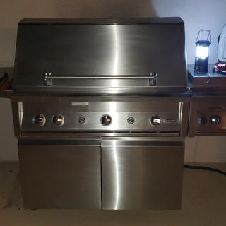 "30"" Jade Dynasty Grill with Side Burner"