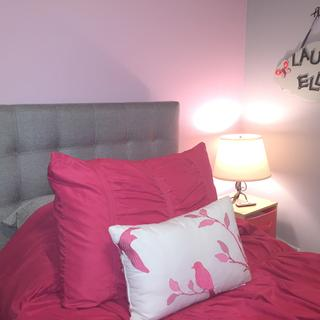Simple, functional Lily Twin headboard.