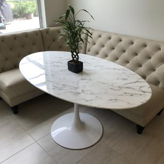 """Lippa 60"""" Oval Faux Marble Table"""