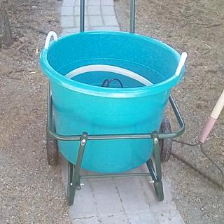 Cart with 17 1/2 inch wide bucket.